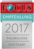 FOCUS-Empfehlungssiegel Phlebologe im Landkreis Stuttgar